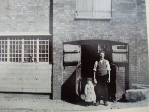 Tertius Bernard and his Dad, the Claybrooke Village Blacksmith (1906)