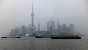 View from the Bund across the River to Pudong