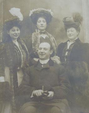 Edgar Gorer, his wife Rachel. mother Hannah and sister Annue