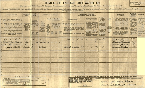 Perkins 1911 England census