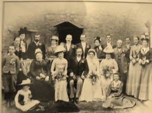 Wedding was at St. Peter's Claybrooke Parva. Think Walter Joseph Perkins is standing above his brother John's right shoulder